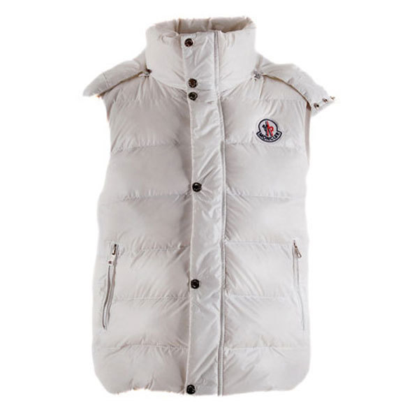 Cheap Moncler Men Down Vest White MC1445 Sale