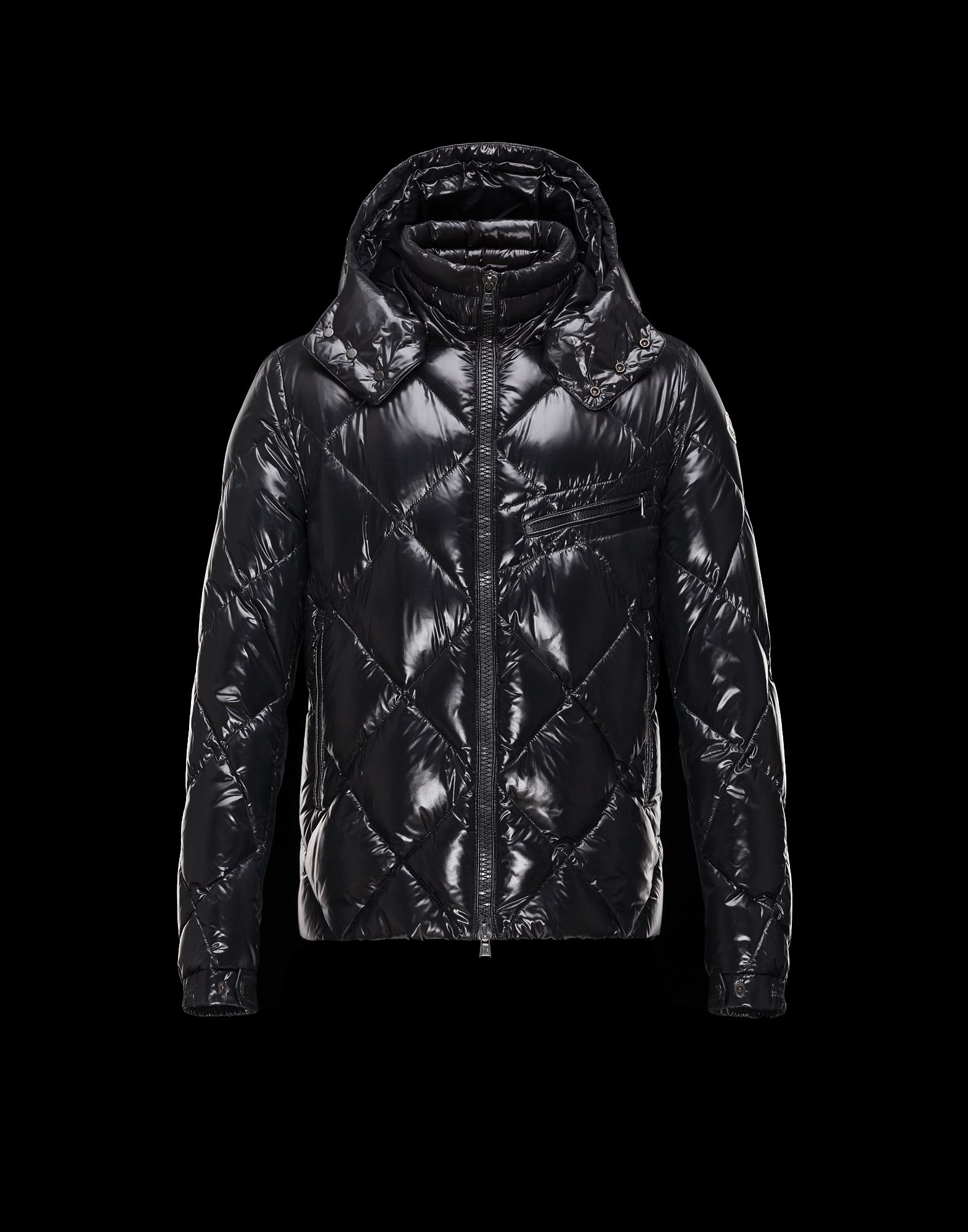 Cheap Moncler NEWMAN Men Jackets Black With Removable Cap Sale NA1118