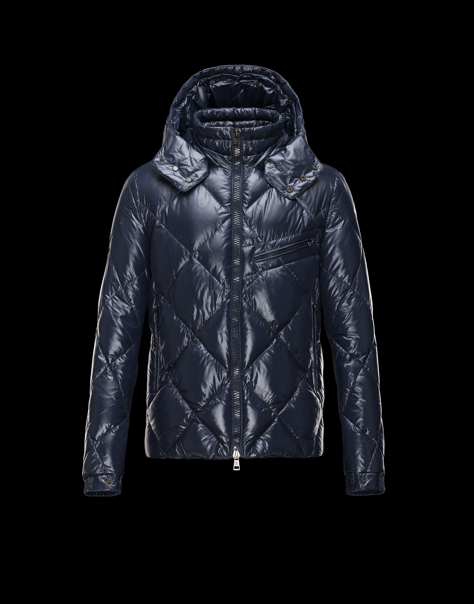 Cheap Moncler NEWMAN Men Jackets Dark Blue With Removable Cap Sale NA1119