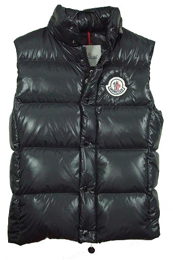Cheap Moncler Vest Men Black With Mock Collar MC1231 Sale