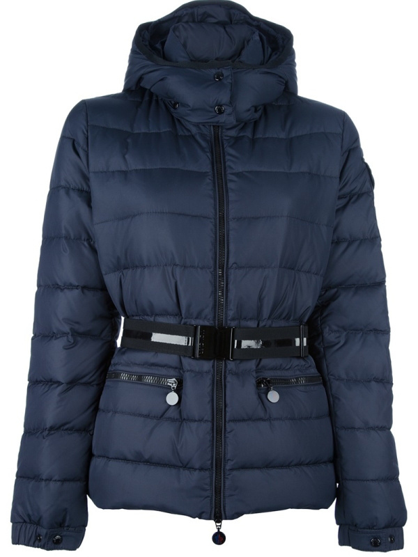 New Cheap Moncler Women Coats Deep Blue With Belt Sale NA1054