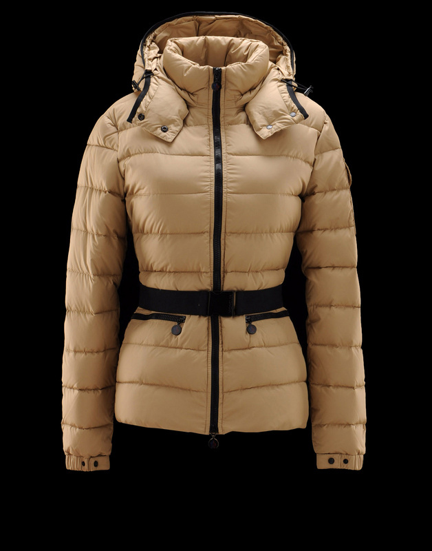 New Cheap Moncler Women Coats Light Yellow With Belt Sale NA1053
