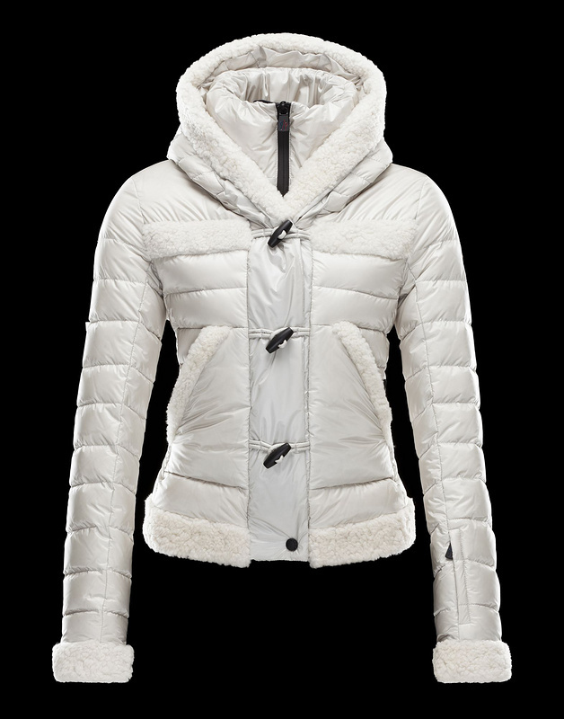 New Cheap Moncler Women Coats White With Cap Sale NA1041