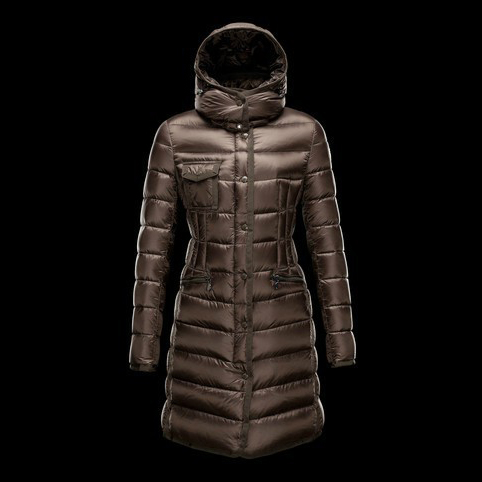 Cheap Moncler Coats For Women Brown MC1343 Sale