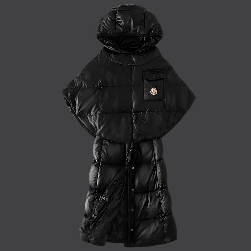Cheap Moncler Down Coats Women Black MC1505 Sale