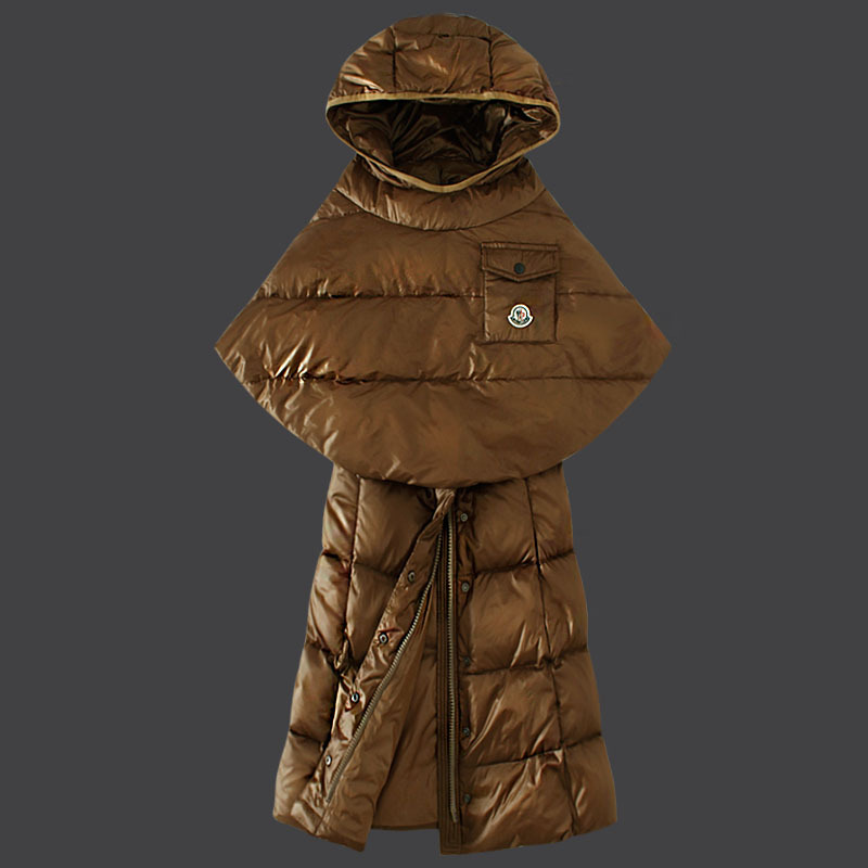 Cheap Moncler Down Coats Women Coffee MC1503 Sale