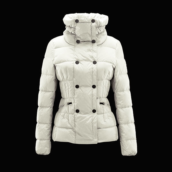 Cheap Moncler Down Coats Women Double-Breasted White MC1519 Sale