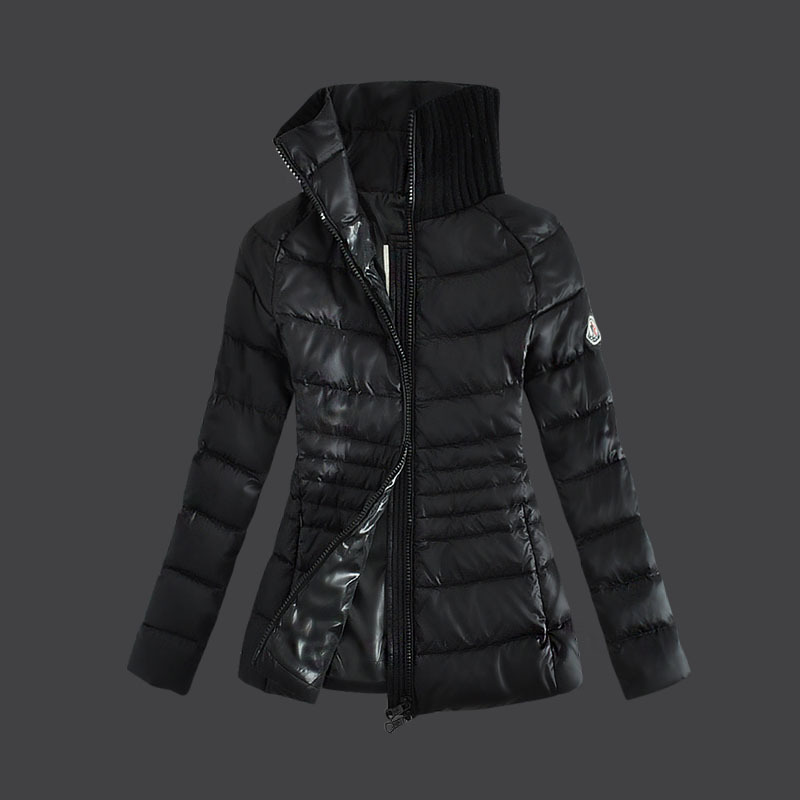 Cheap Moncler Down Coats Women Fur Collar Black MC1500 Sale
