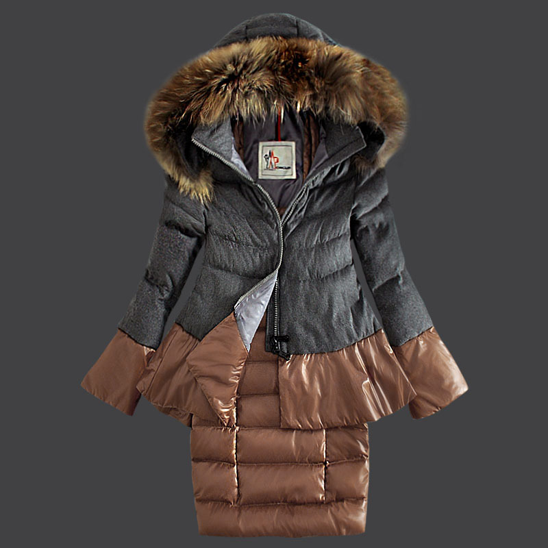 Cheap Moncler Down Coats Women Grey MC1533 Sale