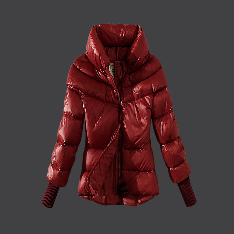 Cheap Moncler Down Coats Women High Colalr Red MC1524 Sale