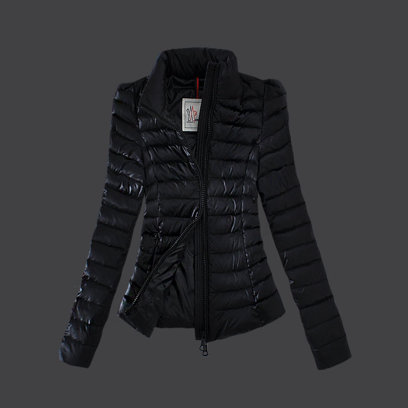 Cheap Moncler Down Coats Women High Collar Black MC1494 Sale