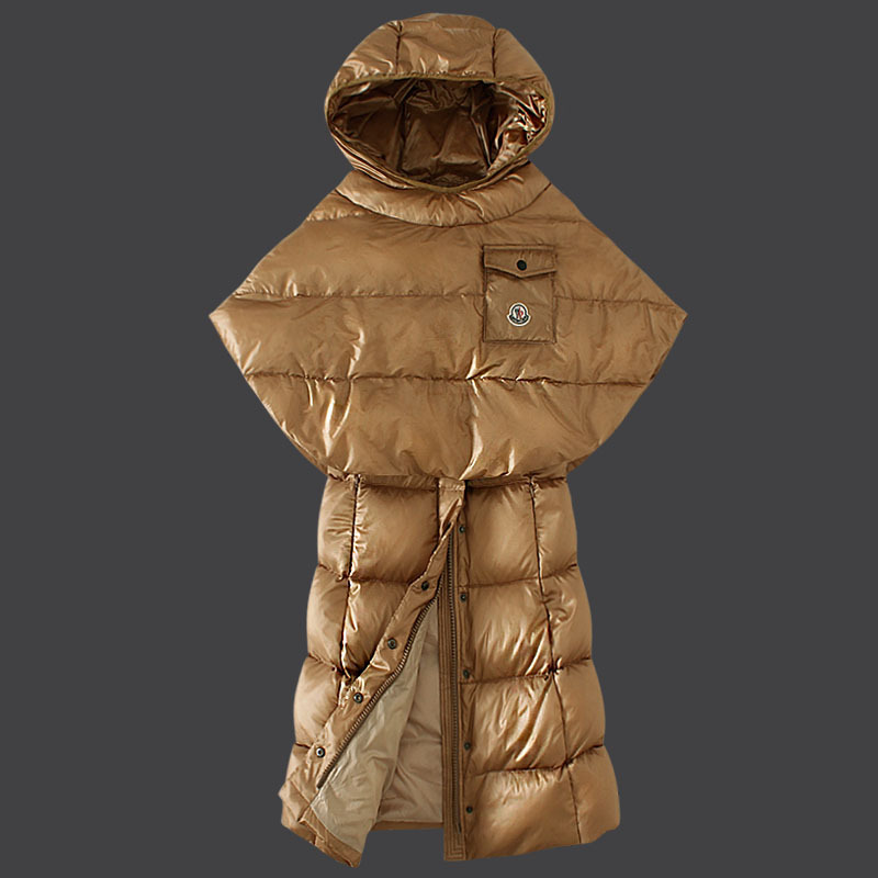 Cheap Moncler Down Coats Women Khaki MC1504 Sale