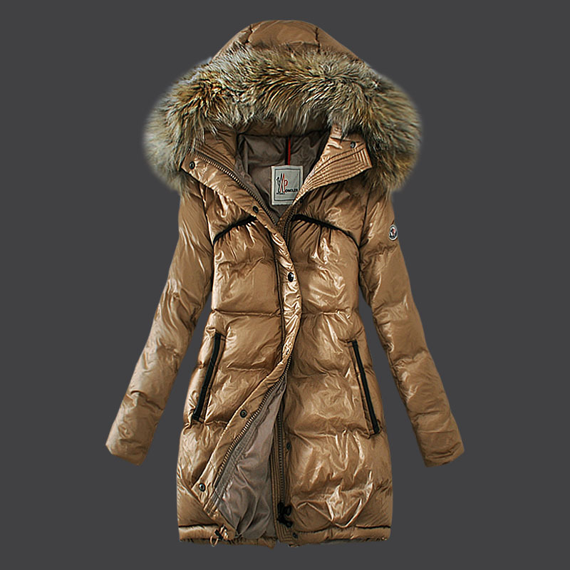 Cheap Moncler Down Coats Women Khaki MC1576 Sale