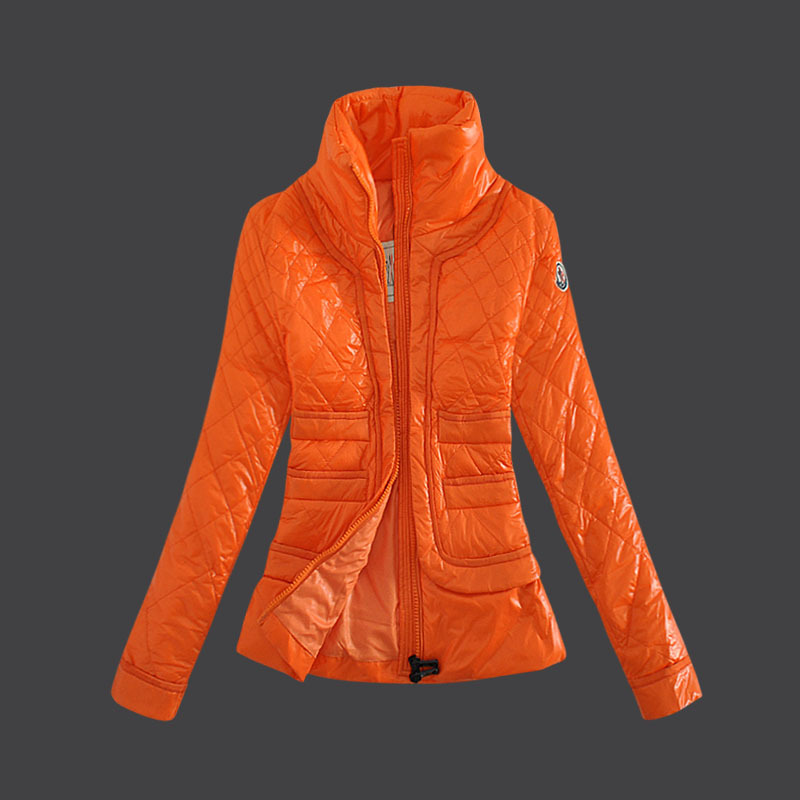 Cheap Moncler Down Coats Women Orange MC1484 Sale