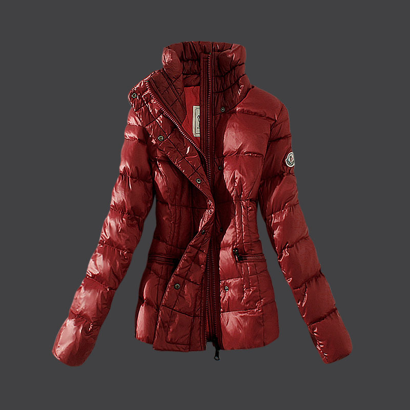 Cheap Moncler Down Coats Women Red MC1521 Sale
