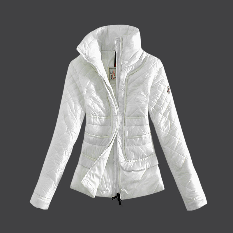 Cheap Moncler Down Coats Women White MC1486 Sale