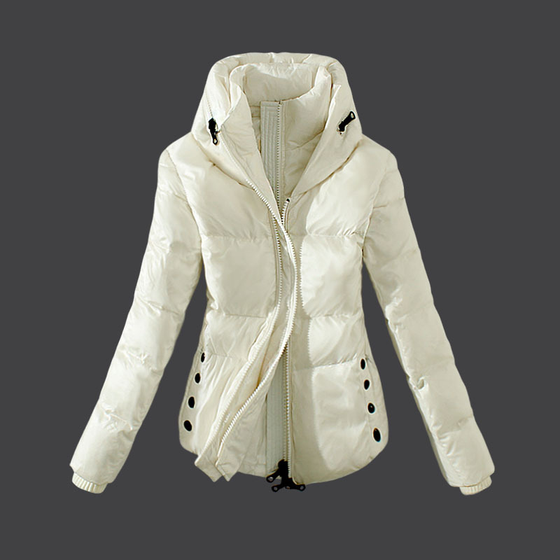 Cheap Moncler Down Coats Women White MC1508 Sale