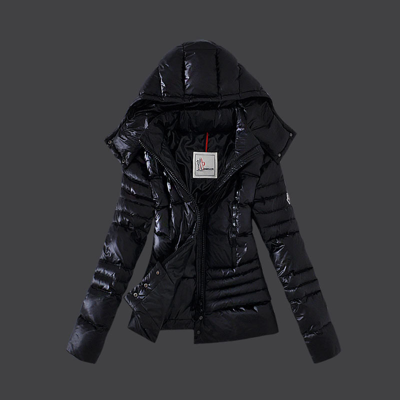 Cheap Moncler Down Coats Women Winkle Black MC1527 Sale