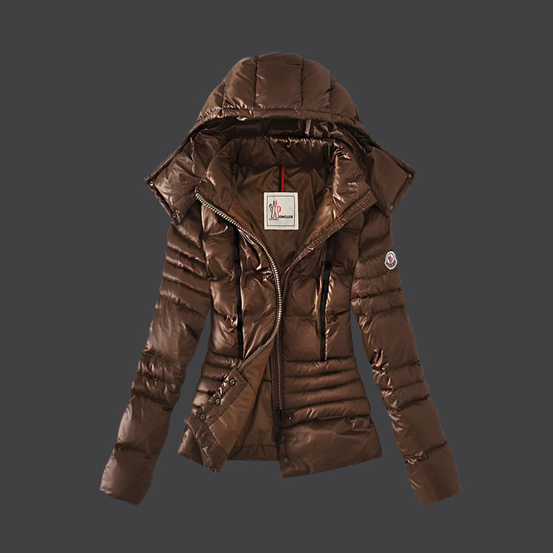 Cheap Moncler Down Coats Women Winkle Coffee MC1528 Sale