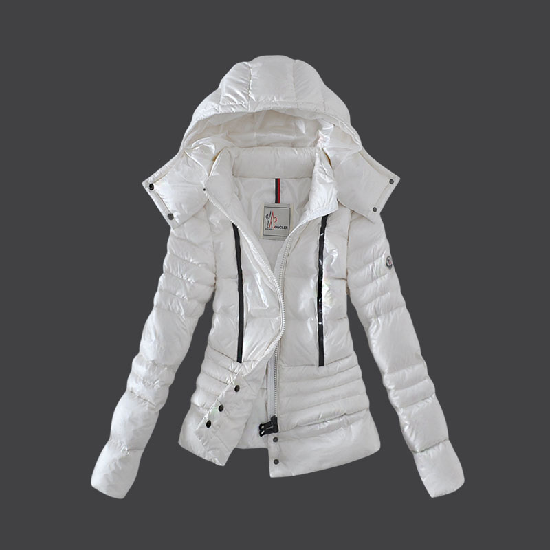 Cheap Moncler Down Coats Women Winkle White MC1526 Sale