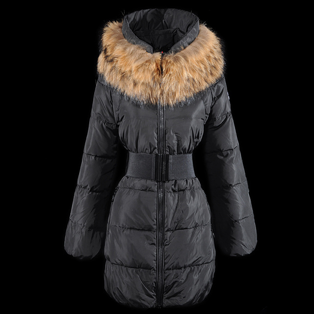 Cheap Moncler Down Coats Women With Fur Collar Grey MC1389 Sale