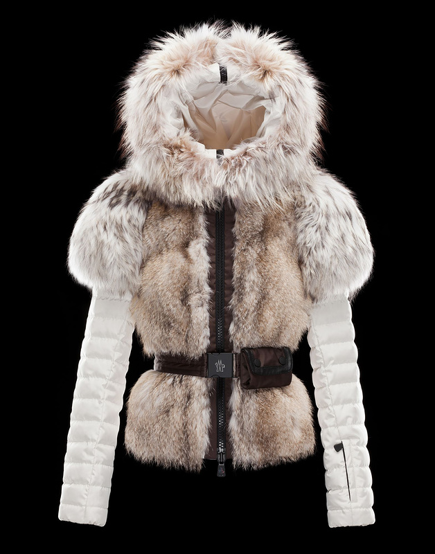 Cheap Moncler Down Coats Women With Fur Collar White MC1552 Sale