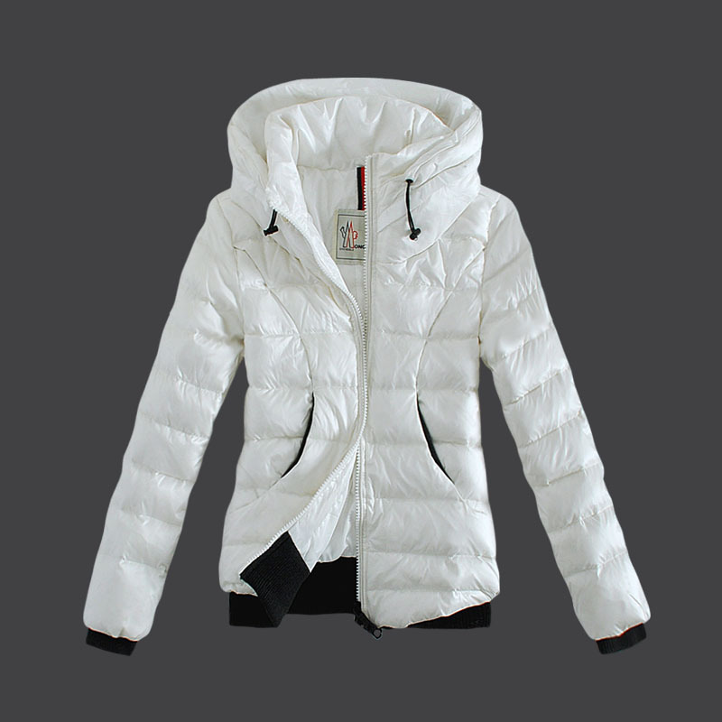 Cheap Moncler Down Jackets For Women Double Collars White MC1482 Sale