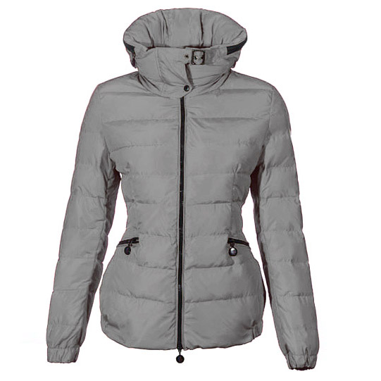 Cheap Moncler Down Jackets For Women Grey With High Collar MC1381 Sale