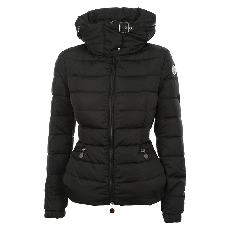 Cheap Moncler Down Jackets For Women With High Collar Black MC1378 Sale