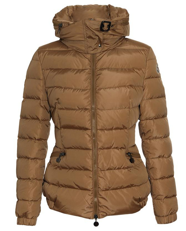 Cheap Moncler Down Jackets For Women With High Collar Khaki MC1379 Sale