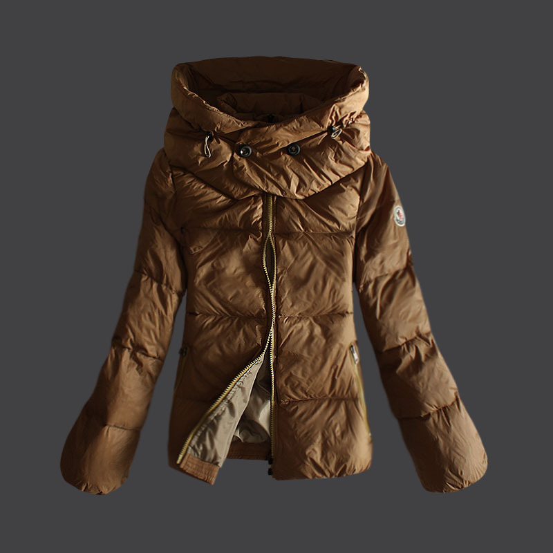 Cheap Moncler Down Jackets For Women With High Collar Yellow MC1346 Sale