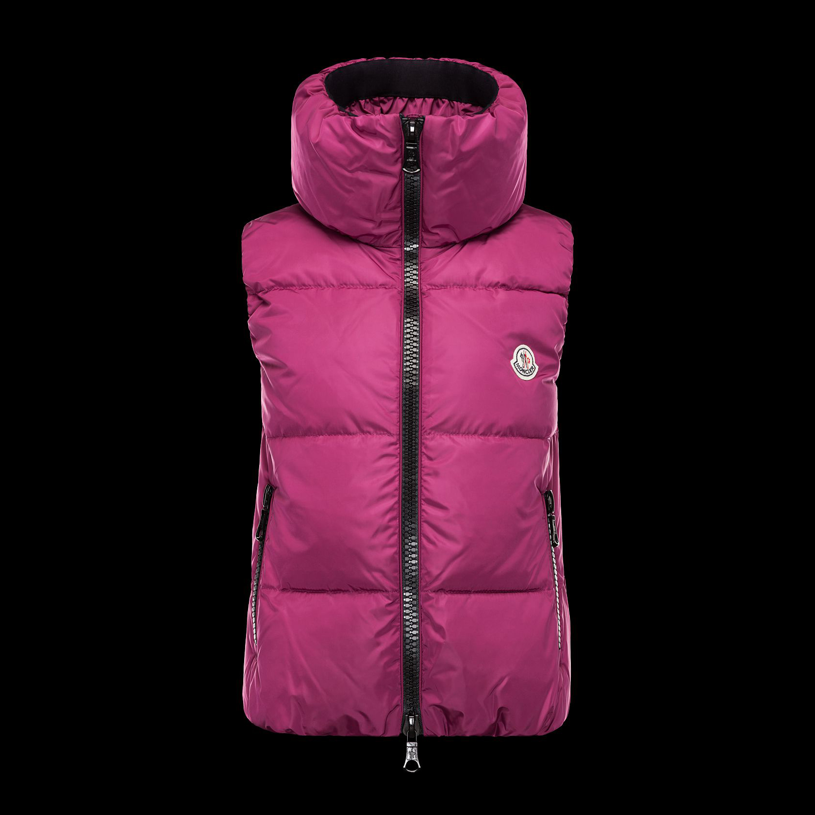 Cheap Moncler Down Vest Women With High Collar Pink MC1331 Sale