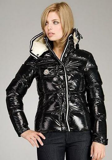 Cheap Moncler Jackets For Women Black With High Collar MC1145 Sale