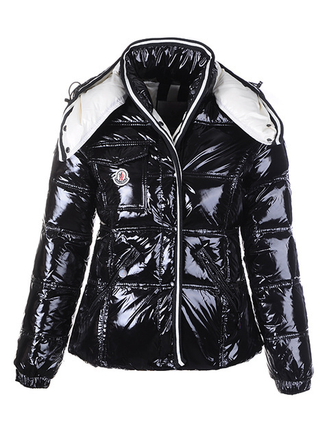 Cheap Moncler Jackets For Women Black With Mock Collar MC1214 Sale