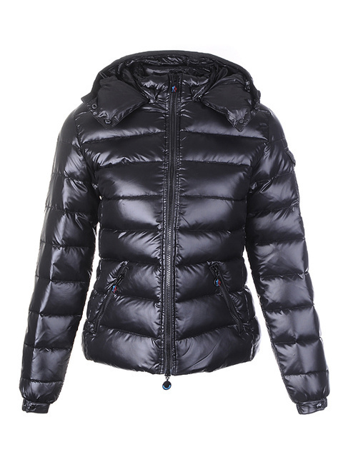 Cheap Moncler Jackets For Women Black With Mock Collar MC1279 Sale