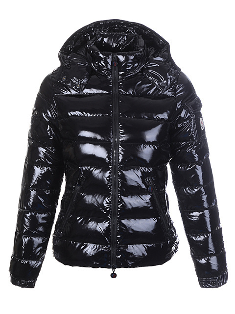 Cheap Moncler Jackets For Women Black With Mock Collar MC1280 Sale