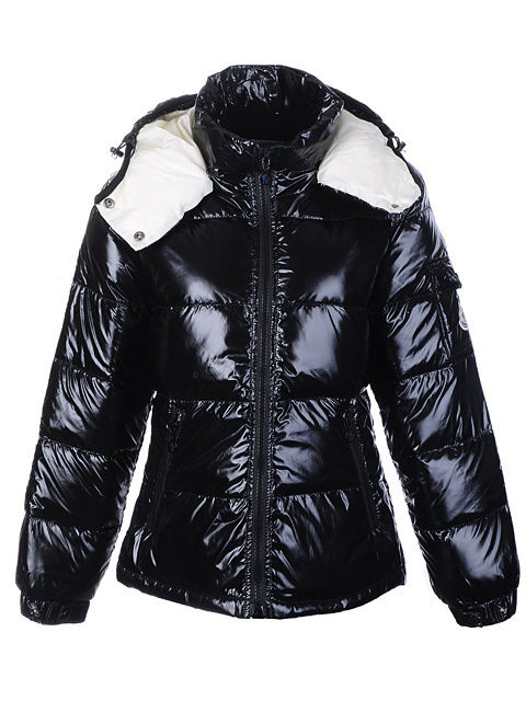 Cheap Moncler Jackets For Women Black With Mock Collar MC1283 Sale