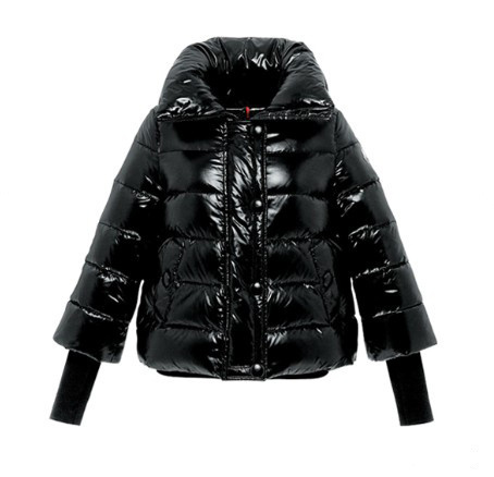 Cheap Moncler Jackets For Women Black With Turndown Collar MC1292 Sale