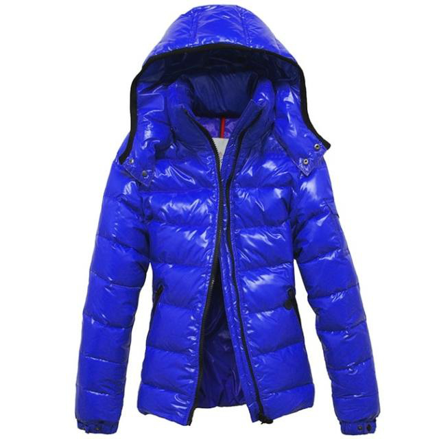Cheap Moncler Jackets For Women Blue With Mock Collar MC1061 Sale