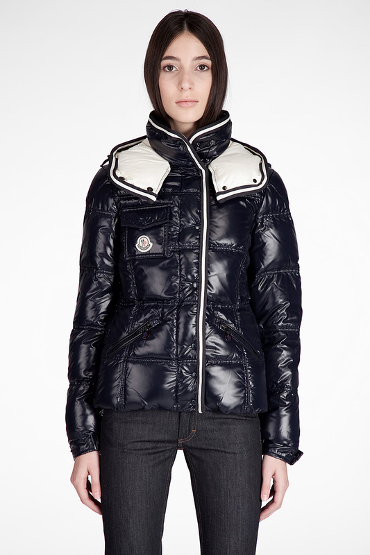 Cheap Moncler Jackets For Women Blue With Mock Collar MC1155 Sale
