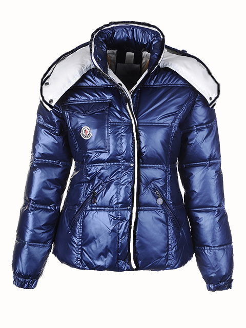 Cheap Moncler Jackets For Women Blue With Mock Collar MC1212 Sale