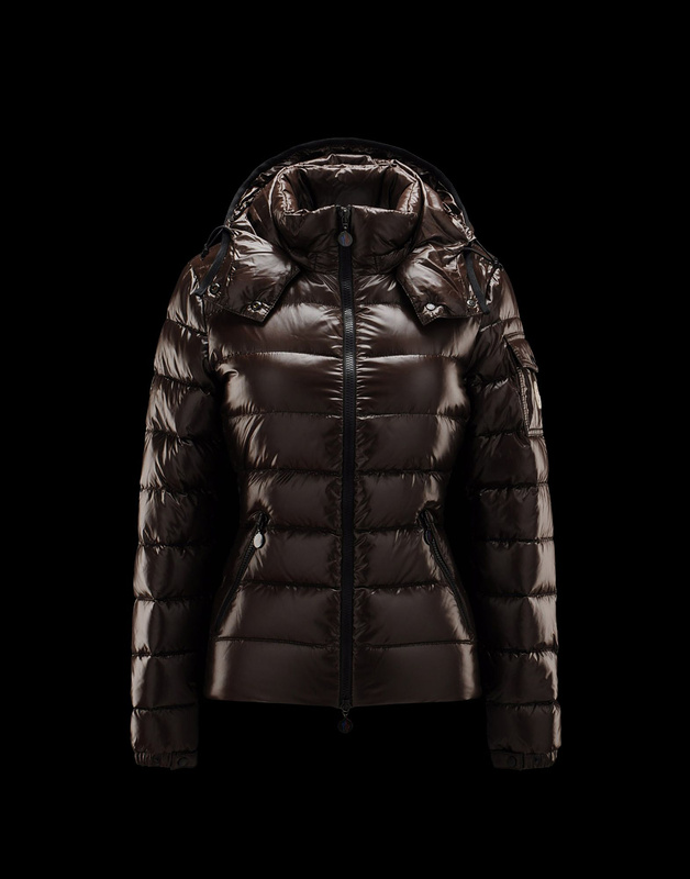 Cheap Moncler Jackets For Women Brown With Mock Collar And Removable Cap MC1058 Sale