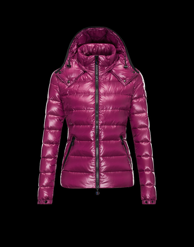 Cheap Moncler Jackets For Women Fuchsia With Mock Collar MC1057 Sale