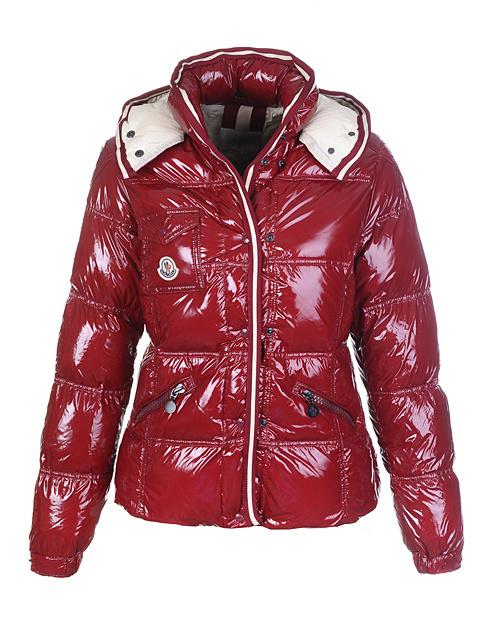 Cheap Moncler Jackets For Women Magenta With Mock Collar MC1216 Sale