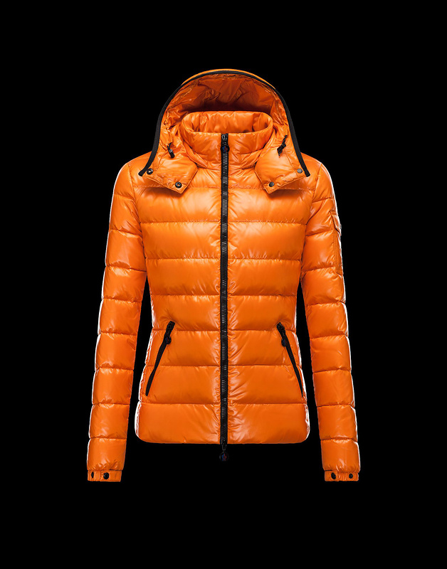 Cheap Moncler Jackets For Women Orange With Mock Collar And Detachable Cap MC1054 Sale