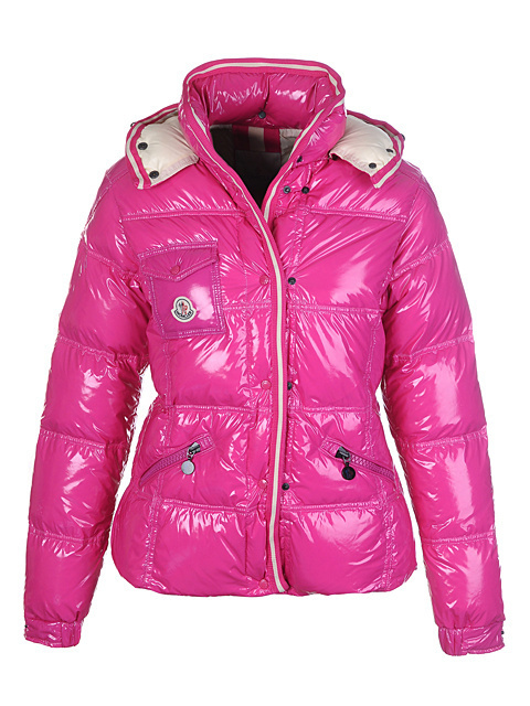Cheap Moncler Jackets For Women Pink With Mock Collar MC1213 Sale