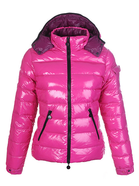 Cheap Moncler Jackets For Women Pink With Mock Collar MC1256 Sale