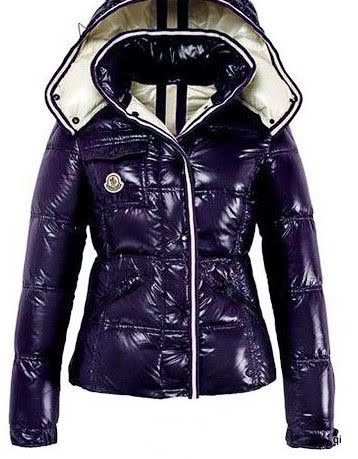 Cheap Moncler Jackets For Women Purple With Mock Collar MC1217 Sale
