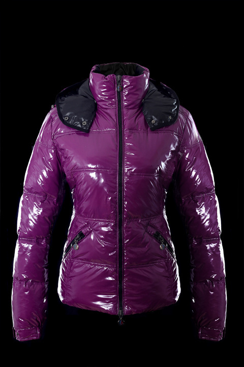 Cheap Moncler Jackets For Women Purple With Mock Collar MC1230 Sale