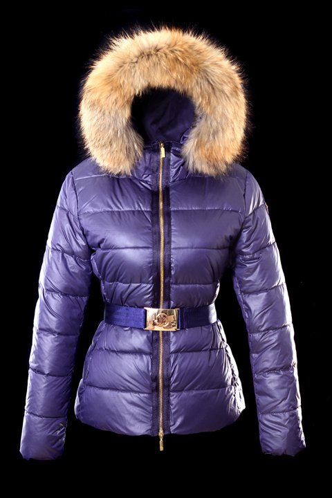 Cheap Moncler Jackets For Women Purple With Waistband MC1242 Sale